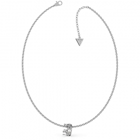 Guess Necklace stainless Steel ladies Pendant Crown And the Point Light UBN79009