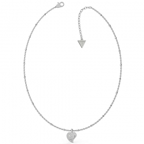 Guess Necklace Women's stainless Steel Pendant Heart And Point Light UBN79012