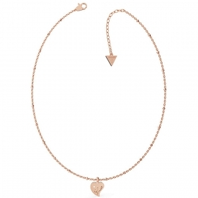 Guess Necklace Women's stainless Steel Pendant Heart rose gold UBN79014