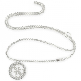 Guess stainless Steel Necklace With Pendant With Logo 4G UBN79051