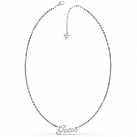 Guess Necklace Chain With big bead In stainless Steel With Logo Guess UBN79076