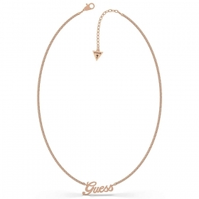 Guess Necklace In stainless Steel With Logo, Guess rose gold UBN79078