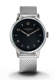 Locman watch only time steel quadr. Black jersey milan 0251A01R-00BKRG2B0