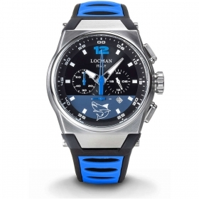 Locman Chronograph Man With a Case in Titanium And stainless Steel 0555A01S-00BKSKSS