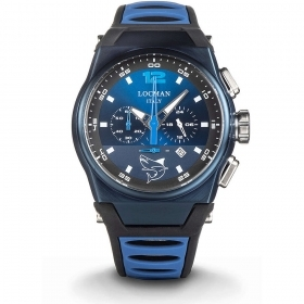 Locman Chronograph Men stainless Steel Case And Titanium blue 0555B02S-BLBLSKSB