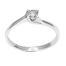 Bliss solitaire ring in white