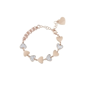 Bliss bracelet-bronze with hearts Ref. 20084061