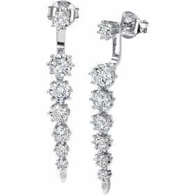 Bliss earrings silver and cubic zirconia white 20073190