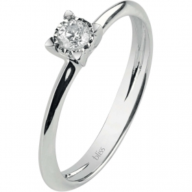 Bliss solitaire ring white gol