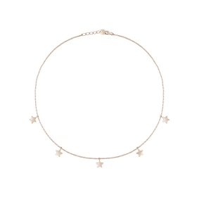 Salvini necklace gold and bright pink with the star symbol 20087169