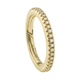 Salvini ring eternity yellow gold with diamonds 20086471