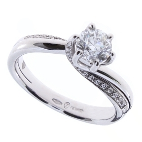 Salvini solitaire ring white gold and diamonds 81085367