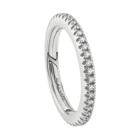 Salvini ring, white gold and d
