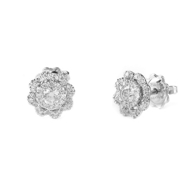 Salvini earrings white gold and diamonds ct 0,62 20087103