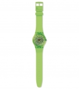 Swatch watch women silicone color green kiwi SUOG118