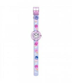 FLIK FLAK WATCH GIRL WITH SWAROVSKI CRYSTALS IN THE DIAL FBNP155