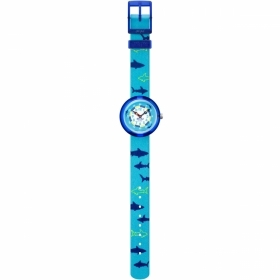 FLIK FLAK WATCH CHILD WITH THE REASON OF SHARKS ON THE STRAP FBNP157