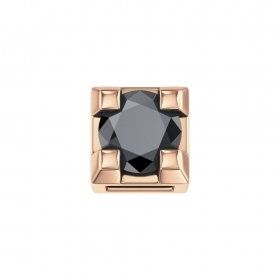ELEMENTS BRAND SQUARE ROSE GOLD WITH BLACK DIAMOND DCHF3305.002