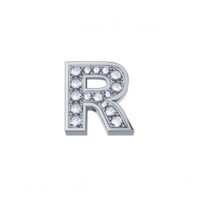 ELEMENTS Letter R white gold a