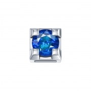 ELEMENTS PRONG SQUARE WHITE GOLD AND SAPPHIRE DCHZ3312