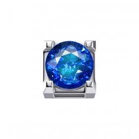 ELEMENTS PRONG SQUARE WHITE GOLD AND SAPPHIRE ct 0,05 DCHZ7244