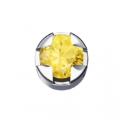 THE ELEMENTS GRIFF, ROUND WHITE GOLD AND YELLOW SAPPHIRE DCHY5506