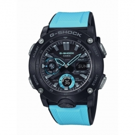 CASIO uhr multifunktion herren armband resin blau GA-2000-1A
