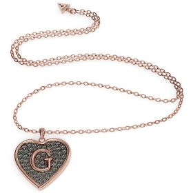 Guess necklace women with pendendente heart with letter G UB