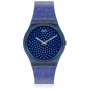 Swatch clock solotempo unisex all blue GN270