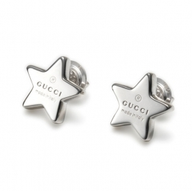 GUCCI earrings women's star button silver TRADEMARK YBD356249001