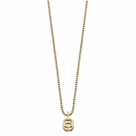 GUCCI NECKLACE RUNNING G WOMEN'S GOLD LOGO ON THE YBB35712000100U