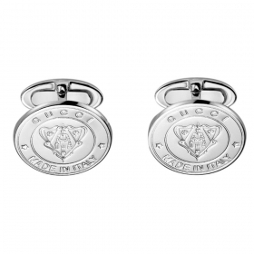 GUCCI CUFFLINKS SHIRT MAN DISCOUNTED SILVER YBF284548001 COAT OF ARMS GIFT IDEA