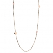 Necklace woman REBECCA bronze gold hydrothermal pink cubic zirconia white 90cm BBYKRQ11