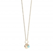 Necklace REBECCA bronze gold hydrothermal blue zircons white 90cm BBYKOT12