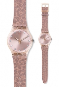 SWATCH Woman Watch PINK GOLD R