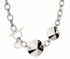 Necklace woman REBECCA bronze rhodium plated white pearl 44cm gift idea STAR BSRKBB03