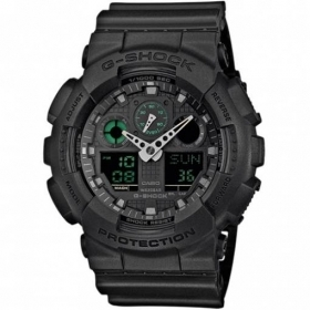 CASIO G-shock mens watch Black alarm clock calendar anti-shock GA-100MB-1AER