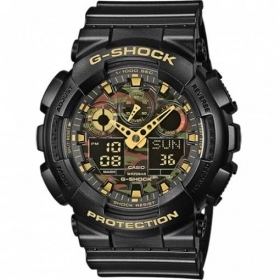 CASIO G-shock mens watch quad. camouflage alarm clock calendar GA-100CF-1A9ER
