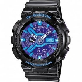 CASIO G-shock mens watch Black calendar alarm anti-magnetic GA-110HC-1AER