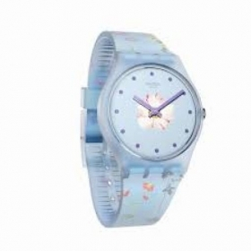 Swatch watch women\'s blue flow