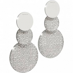 Rebecca drop earrings in white