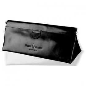 CESARE PACIOTTI handbag purse bag clutch bag Woman black leather SL0059
