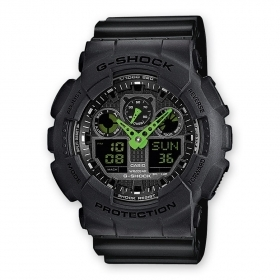 CASIO G-shock mens watch GA-100C-1A3ER antimagnetic speed calendar date
