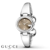 GUCCI watch, women\'s brown GUCCISSIMA stainless steel small 27mm YA134503