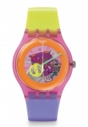 SWATCH WOMAN Watch REF SUOP103 DIP IN COLOR COLORFUL HAPPY LILAC GIFT IDEA