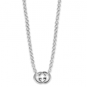 GUCCI NECKLACE WOMAN 45cm SILVER PENDANT YBB190489001 GIFT IDEA